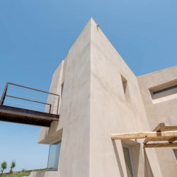 King Albus Villa in Pyrgos of Santorini island designed Kapsimalis Architects
