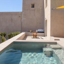 Albus Villas in Pyrgos of Santorini island designed Kapsimalis Architects